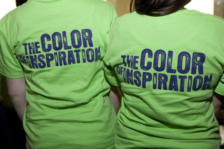 Neon t-shirts with The Color of Inspiration