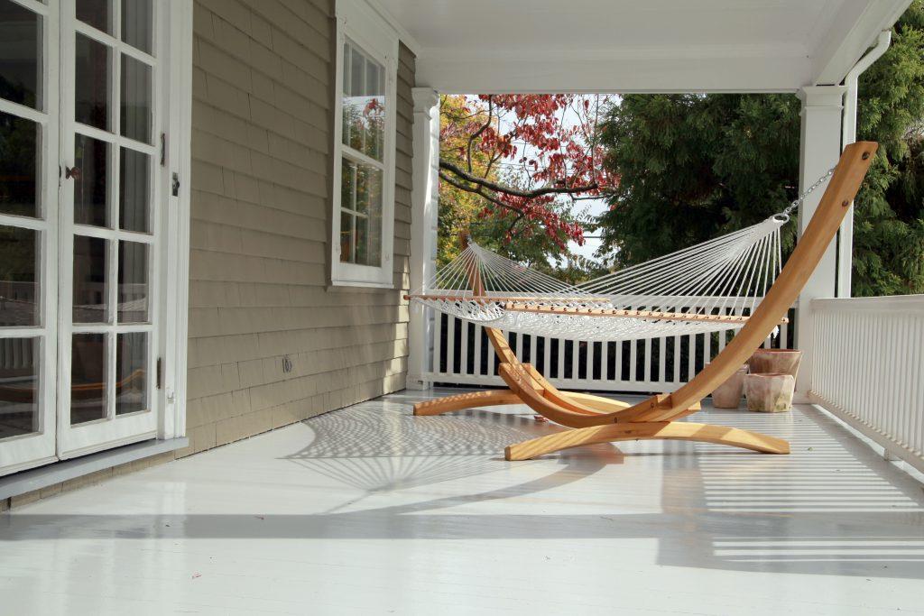 Exterior deck photo with hammock | Pratt & D'Angelo