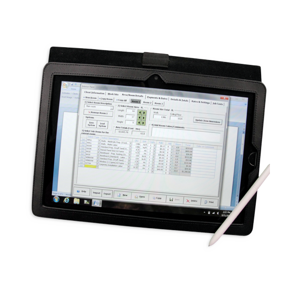 Tablet with estimating system | Pratt & D'Angelo